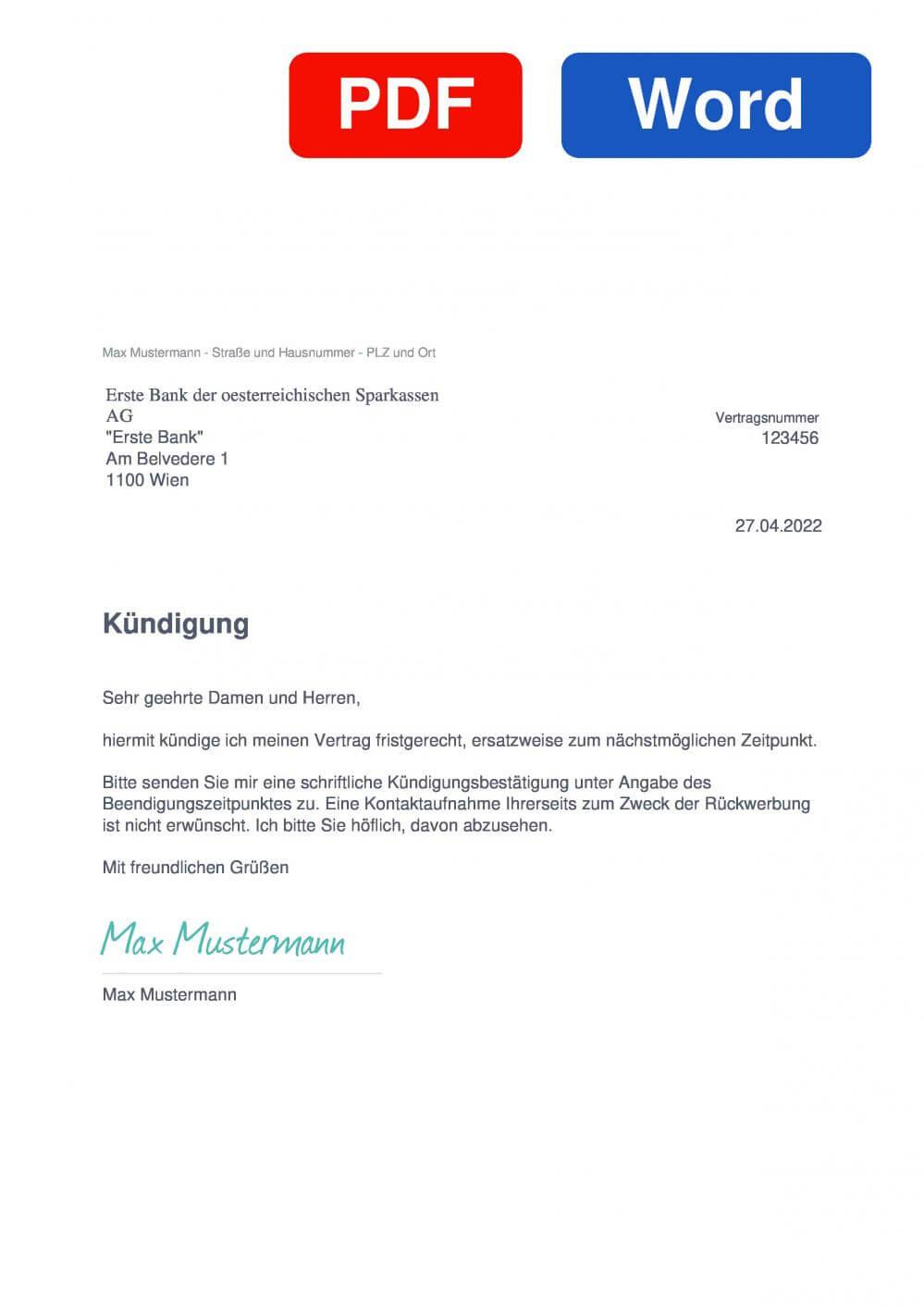 Brokerjet Muster Vorlage für Kündigungsschreiben